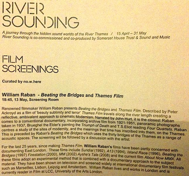 river sounding thames film